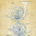 Vintage 1914 French Horn Patent Artwork Print by Nikki Marie Smith