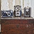 Vintage Cameras at Warehouse 54 Print by Toni Hopper