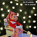 Vintage Christmas Elf Toasting a Marshmallow Poster by Barbara West