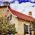 Vintage Eagle Bluff Lighthouse Poster by Shutter Happens Photography