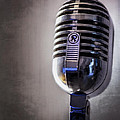 Vintage Microphone 2 Poster by Scott Norris