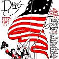 Vintage Poster - America - Flag Day 1917 Poster by Benjamin Yeager