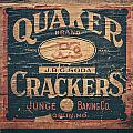 Vintage Quaker Crackers for the Kitchen Poster by Lisa Russo