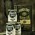 Vintage Quaker State Motor Oil Print by Betty Denise