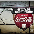 Vintage Star Drug Store Poster by Perry Webster