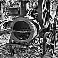 Vintage Steam Tractor Black and White Poster by Douglas Barnard