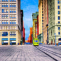 Vintage View Of New York City - Union Square Poster by Mark Tisdale
