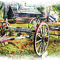 Vintage Wagon on Blue Ridge Parkway III Poster by Dan Carmichael