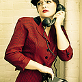 Vintage Woman Poster by Diane Diederich