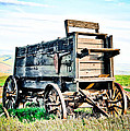 Vintaged Covered Wagon Poster by Athena Mckinzie