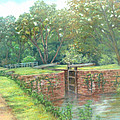 Violettes Lock C and O Canal MD Poster by Nancy Heindl