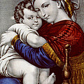 Virgin and Child circa 1856  Poster by Aged Pixel