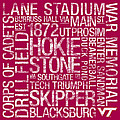 Virginia Tech College Colors Subway Art Print by Replay Photos