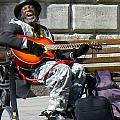 Vision of Ecstasy from Itinerant Street Musician at Bath Somerset England Print by Robert Ford