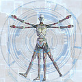 Vitruvian man 3000 Poster by Frederico Borges