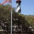 Viva Florida - The St Augustine Lighthouse Print by Christine Till