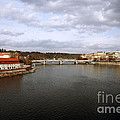 Vltava River View Poster by John Rizzuto