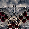 Vostok rocket engine Poster by Stylianos Kleanthous