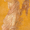 Wall fragment of a Muse Print by Roman School