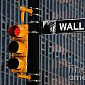 Wall Street Traffic Light New York Poster by Amy Cicconi