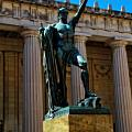 War Memorial Statue Youth In Nashville Print by Dan Sproul