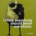 Warhol Tweeting Bird Print by Anthony Ross