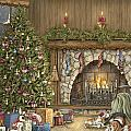 Warm Christmas Print by Beverly Levi-Parker