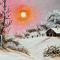 Warm Winter Day after Bob Ross Print by Barbara Griffin