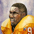 Warren Sapp Tamba Bay Buccaneers  Poster by Michael  Pattison