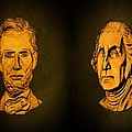 Washington and Lincoln Print by David Dehner