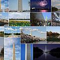 Washington Monument Collage 2 Print by Allen Beatty