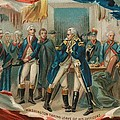 Washington Taking Leave Of His Officers Print by Anonymous
