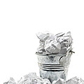Waste basket with crumpled papers Print by Shawn Hempel