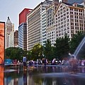 Water Fun in Chicago 1 Print by Sven Brogren