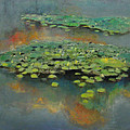 Water Lilies 2 Print by Cap Pannell