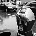 water soaked coin and credit card parking meter on the streets of downtown Vancouver BC Canada Poster by Joe Fox