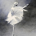 Watercolor Ballerina Painting by Beverly Brown Prints