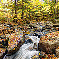Waterfall In The Fall NH Print by James Steele