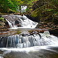 Waterfall Oasis Print by Frozen in Time Fine Art Photography