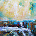 Waterfalls 2 Print by Becky Kim