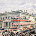 Waterloo Place and Pall Mall Print by English School