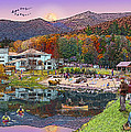 Waterville Estates in Autumn Poster by Nancy Griswold