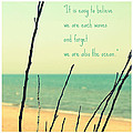 We Are Also the Ocean Print by Poetry and Art