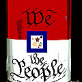 We The People Pop Art Print Print by AdSpice Studios