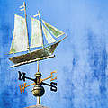 Weathervane Clipper Ship Print by Carol Leigh