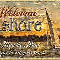 Welcome Ashore Sign Poster by JQ Licensing