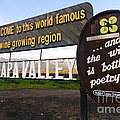 Welcome Sign to Napa Valley Print by George Oze