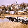 WELLFLEET GOLDEN MORN Poster by Karol Wyckoff