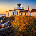 West Point Lighthouse Print by Inge Johnsson