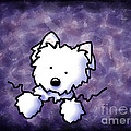 Westie Purple Bliss Poster by Kim Niles